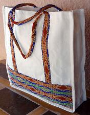 Canvas Shopping Bag Tote 3-HIGuat4 XL Guatemalan Designs Purse