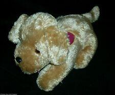 BARBIE FASHION DOLL PUPPY DOG STUFFED ANIMAL PLUSH 2007 MATTEL BARKS LIGHTS UP