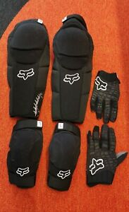 Fox Launch Pro Set Knee/Shin, Elbow Guards and Gloves L / XL