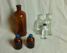 6 Vintage Film Developing Bottles