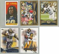 St Louis Rams 5 card 2012 Topps insert & GOLD parallel lot-all different