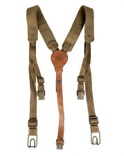 Y-strap Shoulder Harness Canvas and Leather Suspenders Vintage Czech