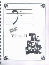 Real Book 2 Bass Schlüssel Clef Jazz Noten für Posaune Kontrabass Double Bass