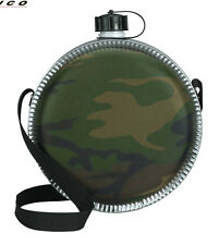New Camping/Hiking Camouflage 2 Quart Desert Canteen w/Adjustable Shoulder Strap