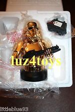 Star Wars Gentle Giant 10 Year Holiday Gold Stormtrooper Bust PGM Exclusive