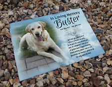 Personalised headstone grave ceramic tile, Labrador pet dog or any breed