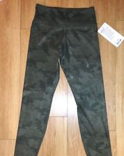 BNWT! Lululemon Wunder Under Crop in Green Camo Fullux Size 4 XS SOLD OUT!