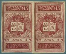 ITALIA - Regno - 1921 - 600° della morte di Dante Alighieri - 15 c. lilla bruno