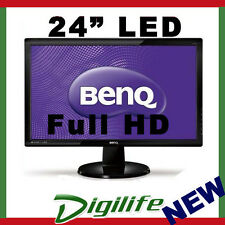 "24"" BenQ GL2460HM Wide screen LED LCD Monitor 2ms HDMI DVI Full HD Speakers"