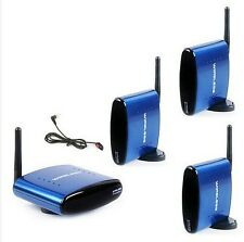 5.8GHz Wireless AV Audio & Video 1 Sender 3 Receivers IR PAT530 free shipping