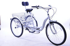 "26"" WHEEL ALLOY ADULT TRICYCLE,CARGO TRIKE DISABILITY LARGEST WHEEL RRP £699 NEW"