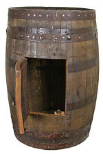 Whiskey Barrel With Side Storage - Mancave - Bar - Sink - Vanity