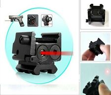 650nm Red Laser Sight Dual Weaver Rail Mount For Pistol Gun Hunting W/battery