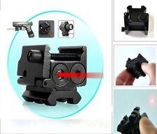 650nm Red Laser Sight Dual Weaver Rail Mount For Pistol Gun Hunting W/battery