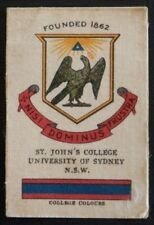 ST JOHNS COLLEGE UNIVERSITY OF SYDNEY Australia 1911 Wills Silk Card