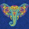 Diamond Painting Kit Dotz 5D 3D DIAMOND ART - ELEPHANT 22 x 22cm Rainbow Colour