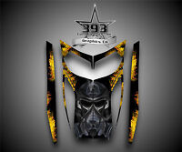 SKI-DOO REV MXZ SNOWMOBILE SLED WRAP GRAPHICS HOOD DECAL KIT 03-07 Toxic Yellow