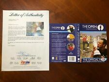 PSA/DNA LOA Jack Nicklaus signed St. Andrews open championship DVD cover.