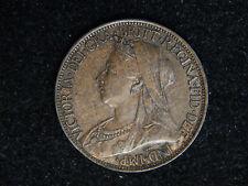 1901 Great Britain Farthing - Victoria - AU-UNC