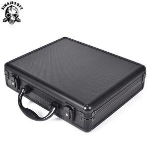 Tactical Aluminum Pistol Hard Carry Case Padded Foam Gun Bag Glock Ipsc Suitcase