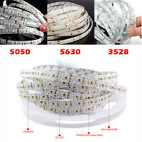 5M SMD RGB LED 3014 3528 5050 5630 Warm white Flexible Strip Light 12V White