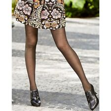 39e352cee6913 HANES Lace Floral Dots Tights Size Small Black 0C250 Flowers - NWT