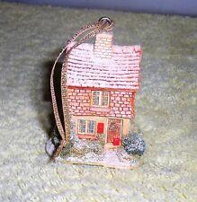 "Liliput Lane ""Mistletoe Cottage"" 1992 Christmas Ornament Handmade In Cumbria, Uk"