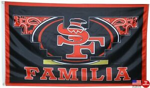 San Francisco 49ers Familia Flag 3x5 Banner 3 X 5 Football New Fast USA Shipping