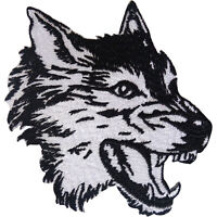 Wolf Patch Iron Sew On Clothes Jeans T Shirt Jacket Embroidered Badge Applique