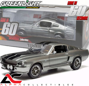GREENLIGHT 12909 1:18 1967 FORD MUSTANG CUSTOM ELEANOR GONE IN 60 SECONDS