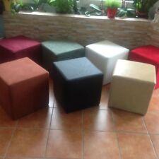 Sitzwürfel/ Hocker/ Cubus/ Würfel Kunstleder/Mikrofaser aus massiver Struktur