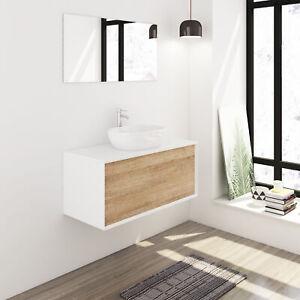 80cm Badmöbel Set weiss Komplett hochglanz Badezimmermöbel Waschtisch Becken