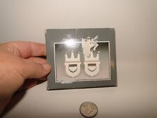 Pair Royal Silver All Purpose Serving Holders, Spoon Holder, Silverplate