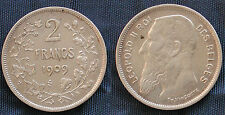 MONETA COIN BELGIO LEOPOLD II° KONING ROI BELGES 2 FRANK 1909 ARGENTO SILVER #2
