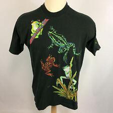 Vintage 80s 90s Mating Frog T Shirt Habitat Forest Nature Surf Park Animal USA