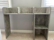dormco desk organizer shelves, gray marble wash color, 37x29 in, good dorm decor