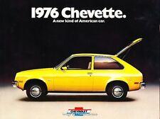 1976 Chevrolet Chevette 16-page Original Car Sales Brochure Catalog -Woody Rally