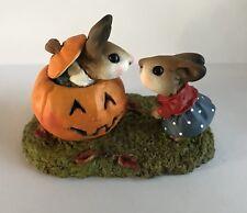 Teaberry Meadow Halloween Peek-a-Boo! Like Wee Forest Folk Mint Bunny Figurine