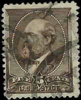 VEGAS - 1882 USA Sc# 205 5c - Used - Centering! - EF72