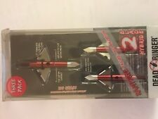 Rampage Dead Ringer 2 Blade Hybrid Arrow Heads 3 Pack, Brand new in the box!