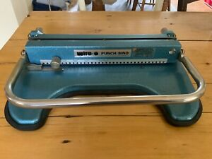 Manual Wire-O Binding  Punch Binder -James Burn