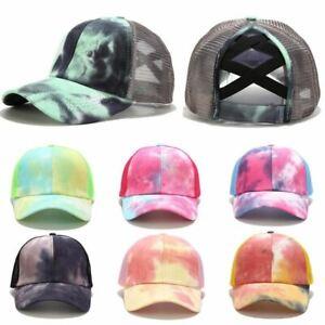 Women Summer Glitter Ponytail Baseball Cap Snapback Dad Hat Mesh Trucker Caps Me
