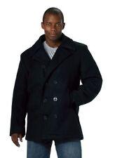 NEW! Mens Coat - Wool US Navy Type Pea Coat, Navy Blue by Rothco  Size: Medium