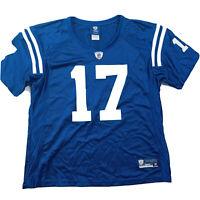 Indianapolis Colts #17 Austin Collie Women's Reebok Blue Home Jersey Size XL
