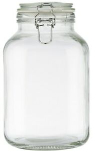 Large Glass Storage Jar 3 Litre Airtight Food Preservation Jar With Clip Top Lid