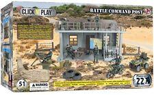 Click N Play Military Battle Command Post Trooper GI Joe Cobra Army Soldiers New