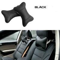 USA Car Seat Headrest Pad Memory Foam Leather Head Neck Rest Cushion Pillow