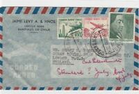 chile 1958 to england airmail  stamps cover ref 13201