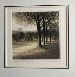 KATHLEEN CADDICK b1937 Framed Limited Edition ETCHING Through the Trees 225/250