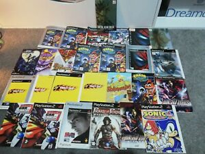 Playstation 2 inserts and manuals some duplicates